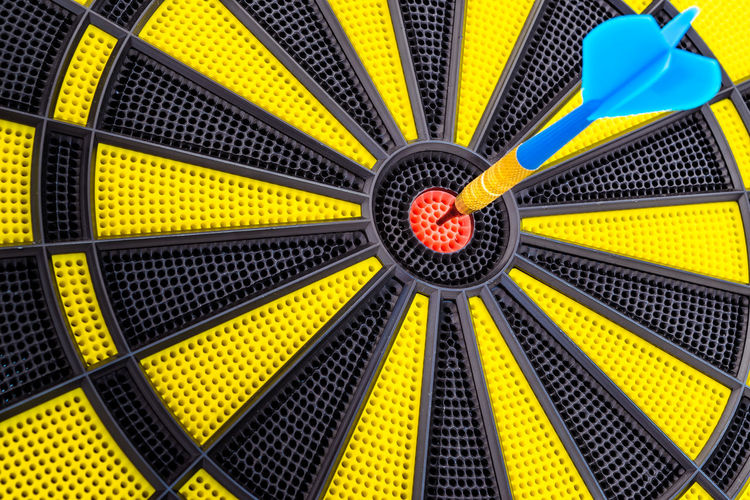 Business Darts Game Playing Playground Target Background Arrow Shot Center Core Red Sport Backgrounds Yellow Full Frame Multi Colored Pattern Close-up Concentric Sports Target Geometric Shape Arrow - Bow And Arrow Target Shooting Circle 17.62°