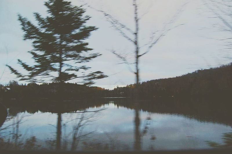 Reflection Tree Water Nature Landscape Sky Lake Reflection Lake Outdoors No People Day Flou Quebec