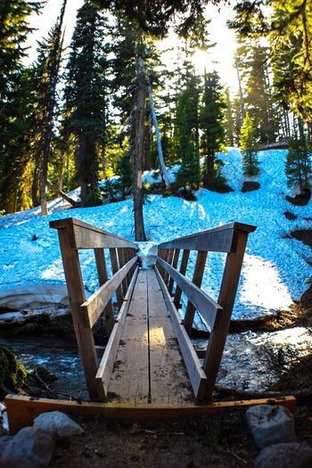 Wooden Bridge Snow ❄ Hanging Out Enjoying Life Taking Photos Wide Angle Beautiful Nature Oregonlife Landscape #Nature #photography Outdoor Photography Landscape_photography Oregonexplored Umbrellafalls