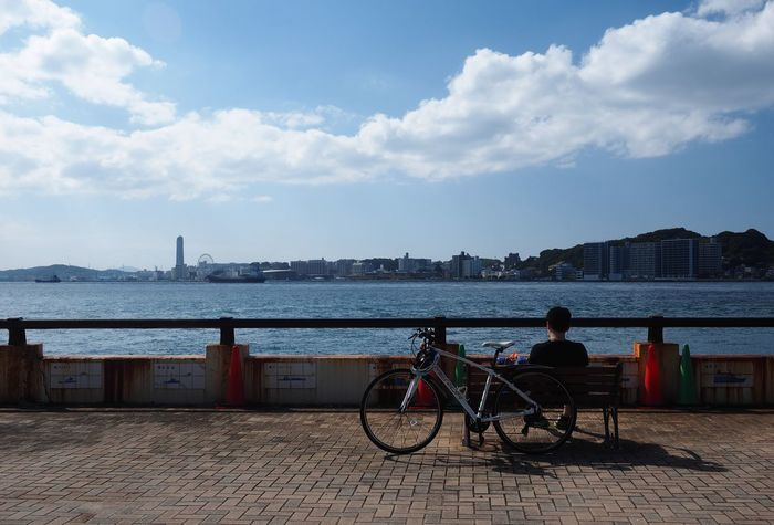 Rest Air Alone Background Bicycle Blue City City Clear Day Fresh Landscape Lonely Look Men Outdoor Peace Quiet Rest River Screen See Sit Sky Think Wait Neighborhood Map