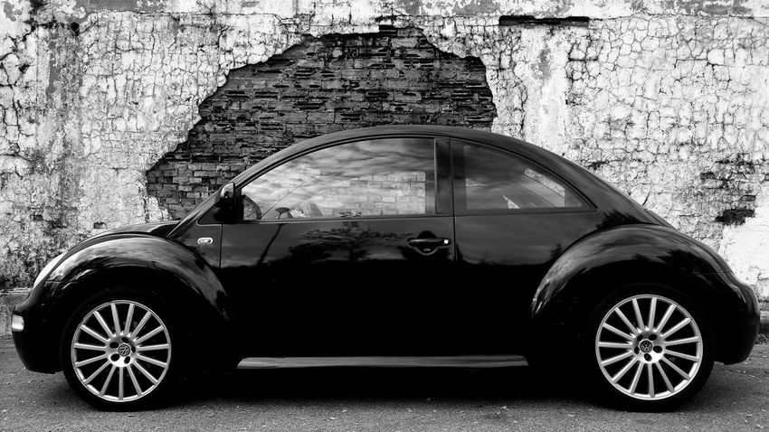 Transportation Car Outdoors Old-fashioned Day No People Tire Brick Wall Wall Decay Blackandwhite Black & White Black And White Friday Stories From The City
