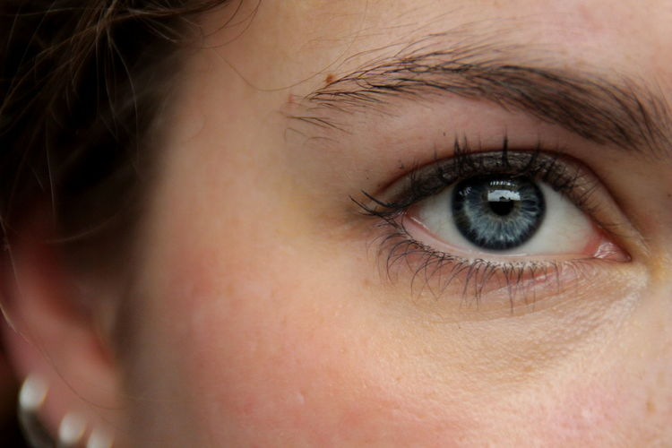 I know your face like the back of my hand. Part I // Blue Eyes Close-up Eyeball Eyebrow Eyelash Eyeliner Eyesight Focus On Foreground Human Eye Human Skin Long Lashes Looking At Camera Onlybirds Part Of Person
