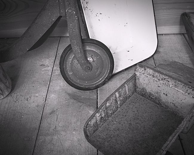 Monochrome Photography Tiled Floor Transportation Part Of Flooring No People Weathered Toys Antiques Photography