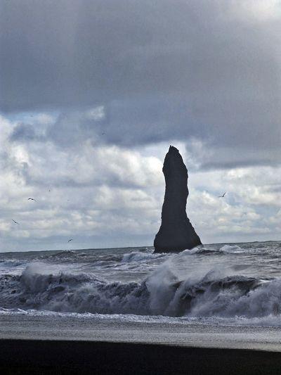 Iceland Beach Blacksand Blacksandbeach Cloud - Sky Island Sand Sea Sky Water Wave