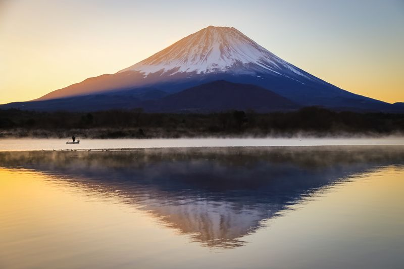 逆さ富士 Japan World Heritage Fujisan 富士山 Fuji Water Mountain Reflection Sky Scenics - Nature Beauty In Nature Tranquil Scene Nature Lake