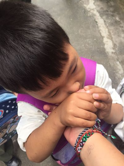 booger Nepal Booger Boy Child Childhood Cute Hand Hold Hands Lifestyles