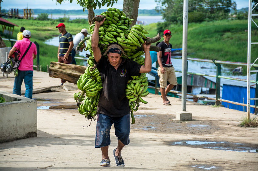 Merchant on Colombian part of Amazon river Amazon Amazonas Banana Colombia Fruits Hard Work Latin America TBT  Travel Destinations Travel Photography Travelphotography Wanderlust Work