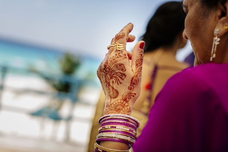 Adult Focus On Foreground Tattoo Women Henna Tattoo Real People People Selective Focus Two People Hand Day Lifestyles Human Hand Rear View Close-up Human Body Part Wedding Ceremony Hindu Woman