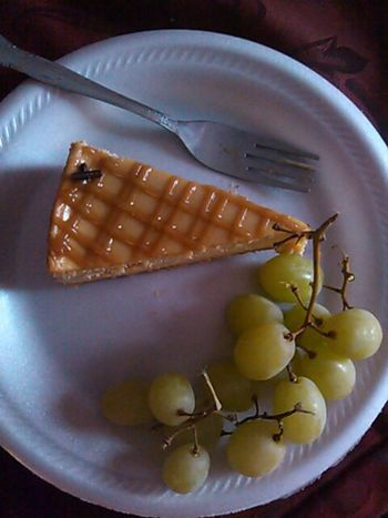 caramel cheesecake and my favorite grapes...finna tear this up with some sunny D!!