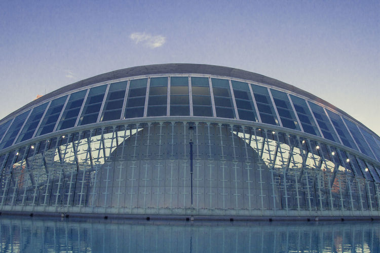 Architecture Calatrava Modern Shape Shapes València Architecture Blue Bluesky Building Exterior Built Structure City Day Illuminated Low Angle View Modern No People Outdoors Reflection Sky