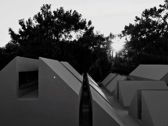 Built Structure Architecture Building Exterior No People Roof Sunset IPhoneography Iphn Photography IPhone 7 Plus Monochrome Photography Bw Photography
