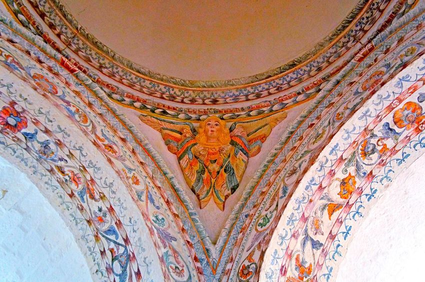 👼🏻 Low Angle View Built Structure No People Indoors  Place Of Worship Architecture Baroque Architecture Laviniafenton Angels Angel Ancient Cajamarca-Perú EyeEm Best Shots Cúpula EyeEm Gallery EyeEmNewHere Indoors  Spirituality Ceiling Low Angle View