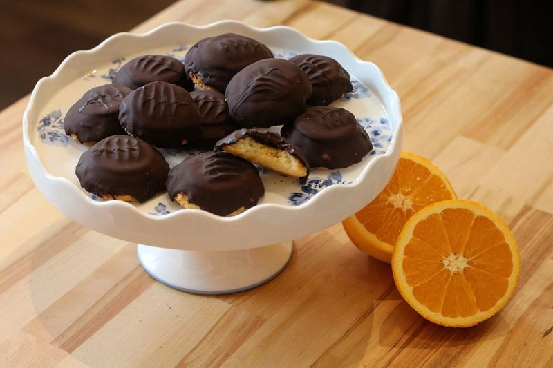 Homemade Jaffa cakes Indoors  Food And Drink Bowl Table Food Freshness Large Group Of Objects Dessert Ready-to-eat Serving Size Indulgence No People Appetizer Contrasts