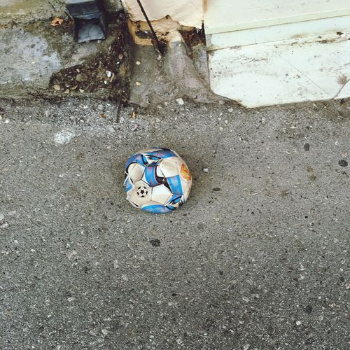 deadtoyssociety Football Ball Deadtoyssociety High Angle View Day No People Land Nature Beach Outdoors