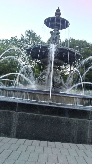 Fontaine Grenouille Day Fountain Water Quebec Beautiful ♥ Magnifique Beautiful Moment💙 Bleu Calme Tranquil Scene Beauty