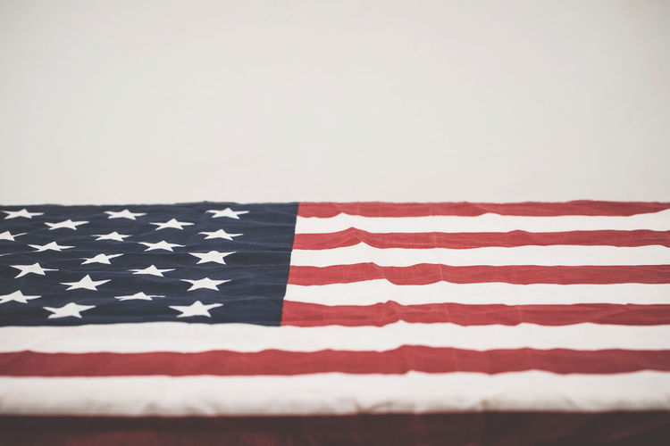 Close-up of flag against white background