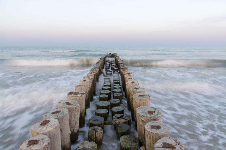 Cervia, Italy, view of the Adriatic coast, sea Aquatic Sport Beach Beauty In Nature Day Horizon Horizon Over Water Land Long Exposure Motion Nature Outdoors Scenics - Nature Sea Sky Sport Surfing Tranquil Scene Tranquility Water Wave