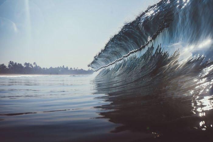 Water Nature Wave Sea Blue Watershots Sri Lanka Hikkaduwa Morning Perfection Glassy Water Curl First Eyeem Photo