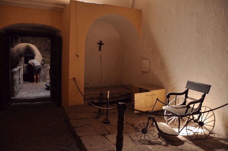 Old wheelchair in museum