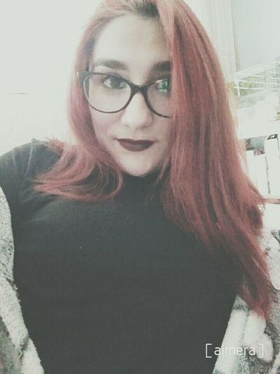 Selfie Girl Pelirroja Enllamas Girltumblr Make Up Fashion Tumblr Lipstick Tumblrgirl Fashiongirl  Glasses