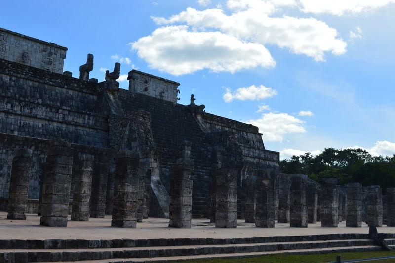 Architecture Building Exterior Built Structure Chichen Itza Chichen Itza Ruins Chichen-Itzá Chichenitza Cloud - Sky Column Columns Cultures Day History Maya Mayan Mayan Wonders Mayas Mexico No People Outdoors Sky Travel Destinations