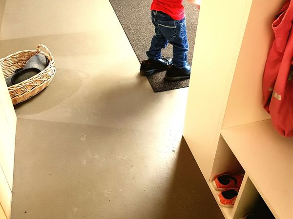 Child Children Only Childhood Full Length One Person People One Girl Only Indoors  Girls Lifestyles Playing Day Adult EyeEm Best Shots Carpet Chasing Leisure Activity Kindergarten Indoor Photography Jeans Big Shoes Human Leg Human Body Part EyeEm Gallery One Boy Only