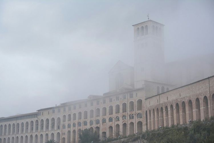 Assisi Cathedral Architectural Detail Foggy Day Hello World Italianeography Italia Travel Photography