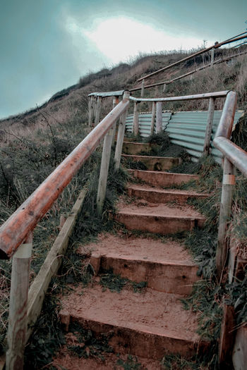 Staircase of abandoned building