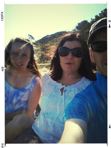 triple selfie