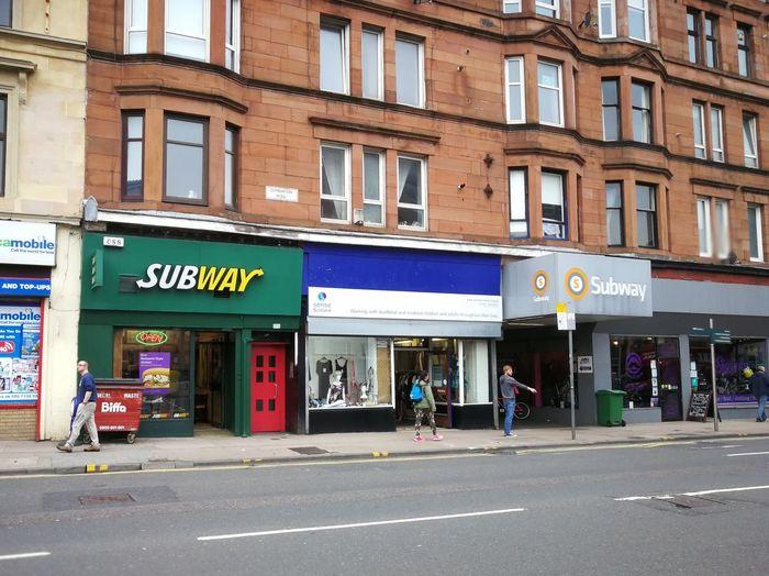 Architecture Building Exterior Façade Outdoors People City Tenements Partick Cross Subway
