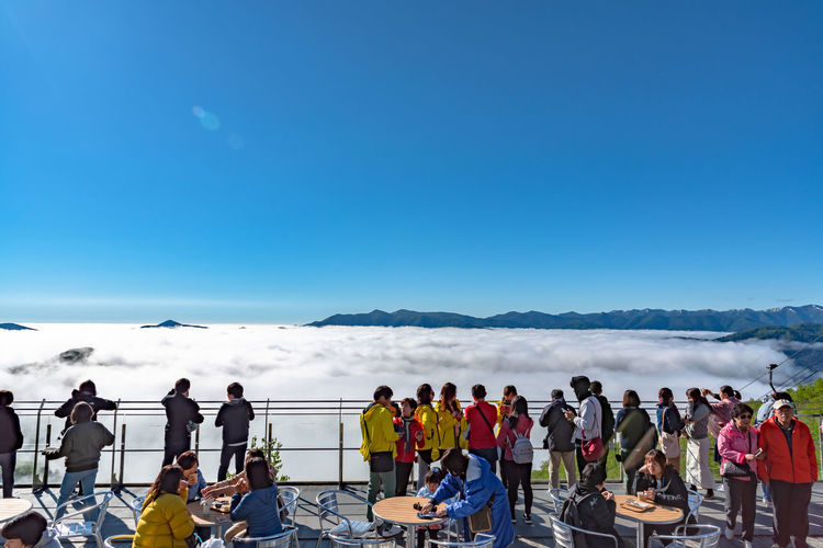 Panorama view from Unkai Terrace in summer time sunny day at Tomamu, Shimukappu village. To see the sea of clouds, the weather conditions must be complete Unkai Terrace Unkai Terrace Sea Of clouds Clouds Tomamu Hoshino Resort Morning Cloud - Sky Popular Photos Attraction Peak Vast Panorama Beautiful Beauty In Nature Sky Famous Mountains Nature Landscape Hosino Resoirt Summer Sun Sunny Destination Tourism Scenery Tourist Scenics Travel Sightseeing Trip Skyline Horizon Vacations Valley People Blue Tokachi Shimukappu Hokkaido Japan ASIA Village Alphabet Cpoy Spac Day