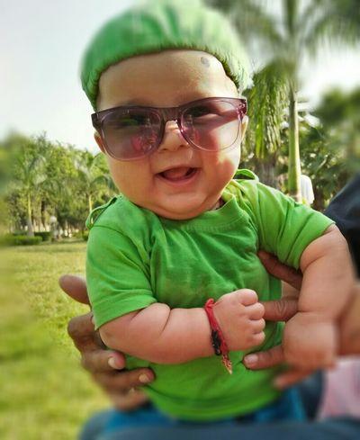 My Nephew Child Portrait Eyeglasses  Front View Outdoors Childhood Faces Sunglasses