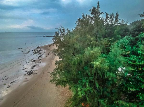 ArealPhotography Cloudy Day Johor Bahru Tanjung Balau Beach Johor Malaysia Beauty In Nature Ocean Sahadatsenzaki Wonderful Beach