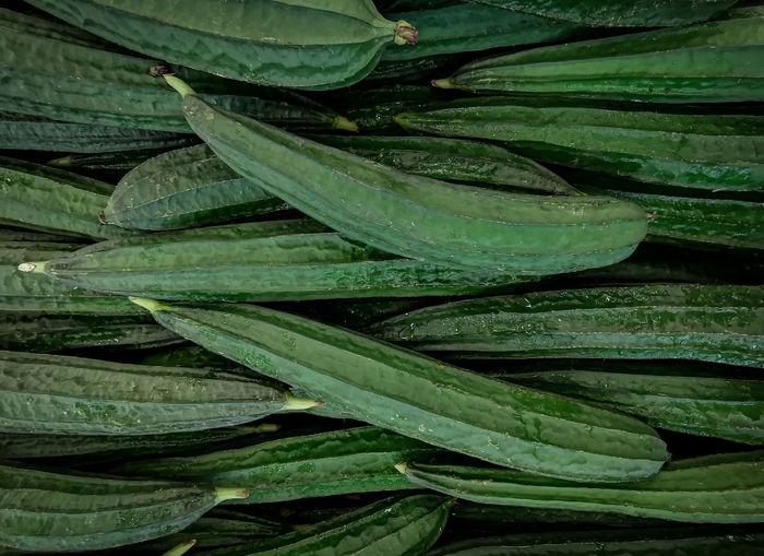 Green vegetable sale on market