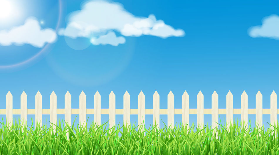 Spring theme Blue Clear Sky Cloud - Sky Day Grass Growth Nature No People Outdoors Pasture Picket Fence Sky SP Summer Sunny
