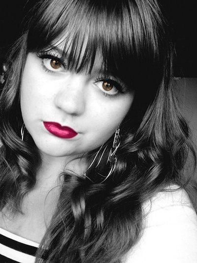 Check This Out Black & White Color Portrait Selfie