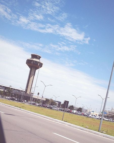 Tower Architecture No People Outdoors Airport Area Car Parking Airport Terminal