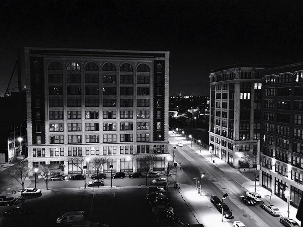 Architecture Night City Illuminated Cityscape