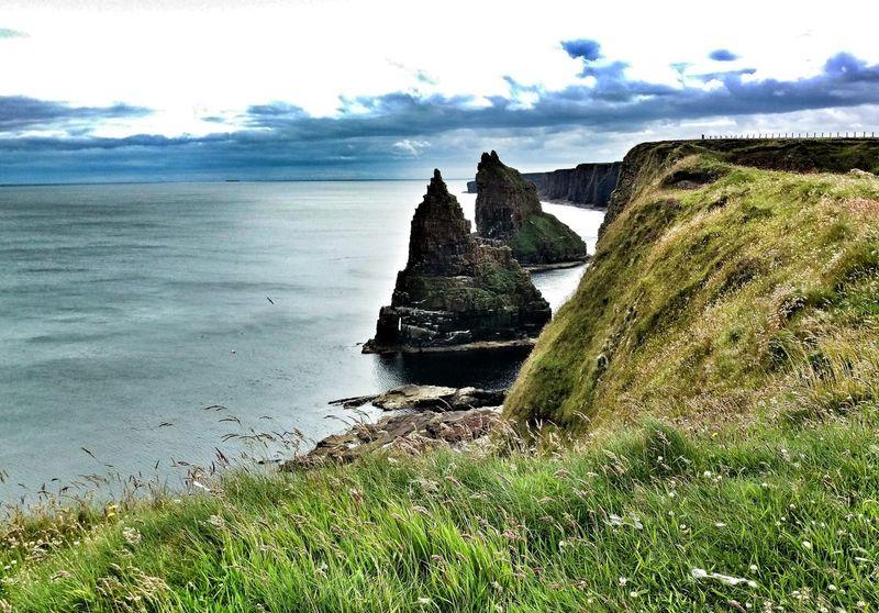 Coastline Cliffs Rocks Sea Ocean Scotland Caithness Blackandwhite Landscape Seascape John O'Groats Stacks Of Duncansby