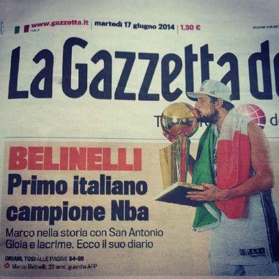 Our pride! Hai spaccato di brutto! @officialspurs @mbeli3 NBA Sanantoniospurs Ring Basket basketball italy