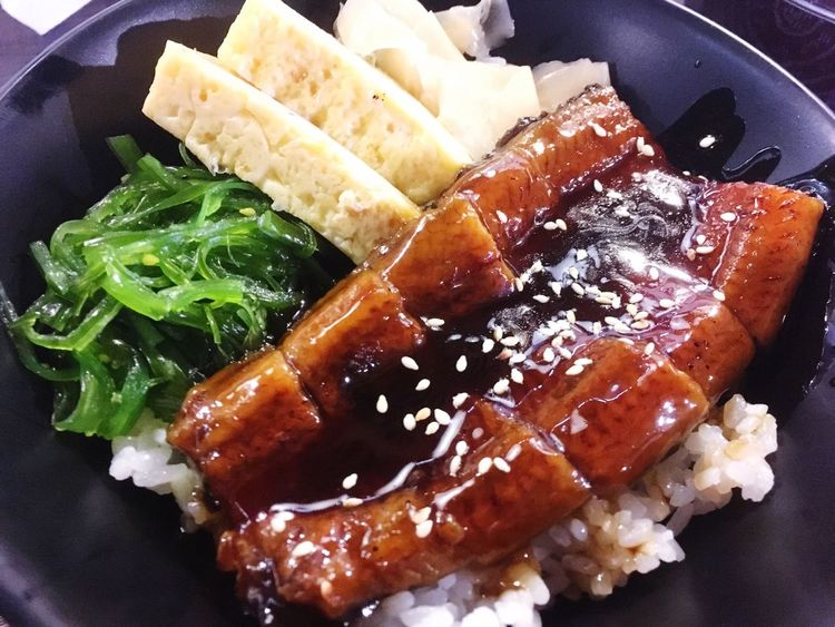 Food And Drink Food Indoors  Freshness Ready-to-eat High Angle View Close-up Plate No People Healthy Eating Day Unagi Don Japanese Food