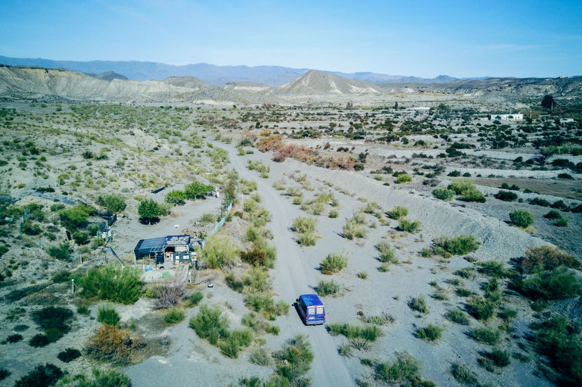 DJI X Eyeem Desert Wild West Aerial View Beauty In Nature Car Day Desert Landscape High Angle View Landscape Mountain Mountain Range Nature No People Outdoors Road Sand Scenics Sky Tabernas Desert Tranquil Scene Tranquility Transportation Tree Western