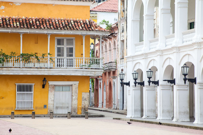 Corner at the Plaza de la Proclamacion in Cartagena de Indias Antique Architecture Caribbean, Island Life Cartagena, Colombia Square Architecture Building Exterior Built Structure Colonial Corner Day Historical No People Outdoors Proclamation