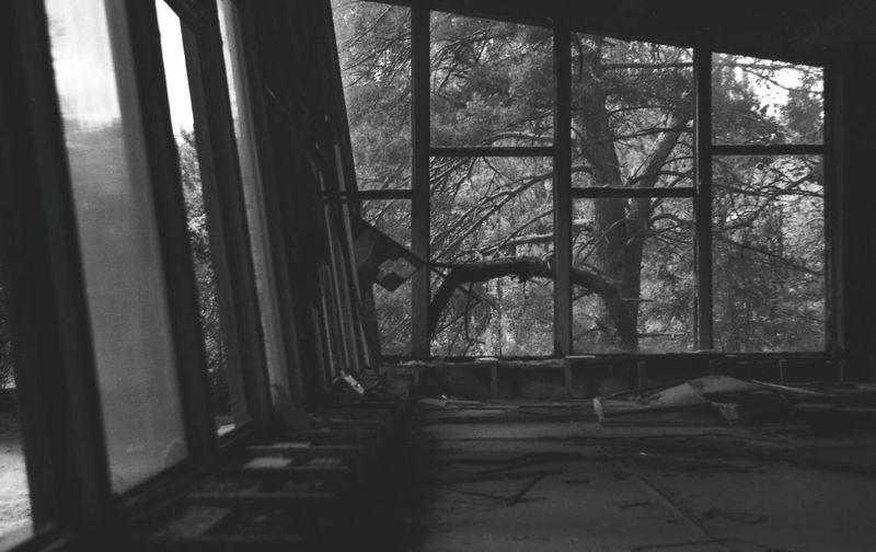 """Awesome abandoned cafe """"Pripyat"""" at abandoned Pripyat-city"""