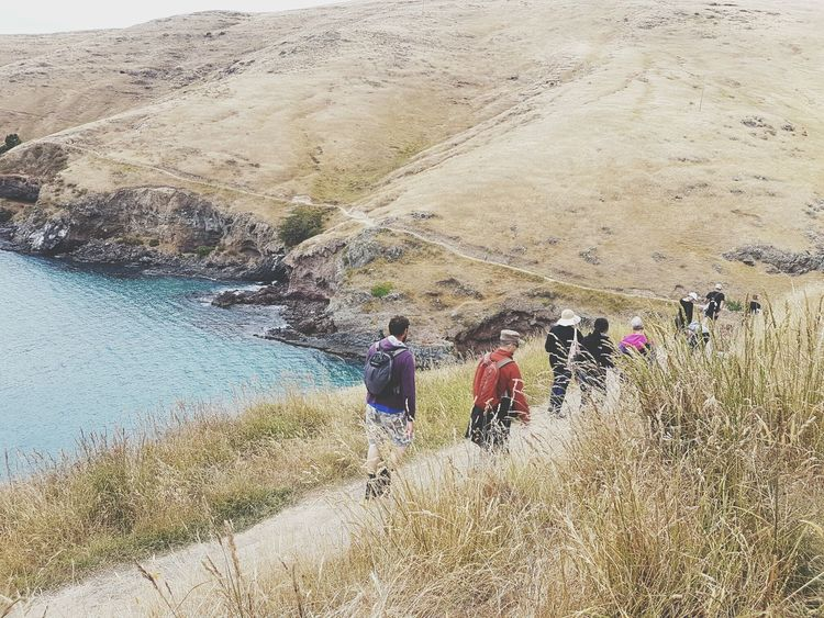 Finding New Frontiers Leisure Activity Outdoors Vacations Coastal ViewsNature Costal Walk Costal Trail Hiking Tranquil Scene Togetherness Visual Creativity