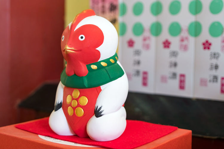 Japan Celebration Close-up Day Dazaifu Eggcup Figurine  Focus On Foreground Human Representation Indoors  No People Red Snowman