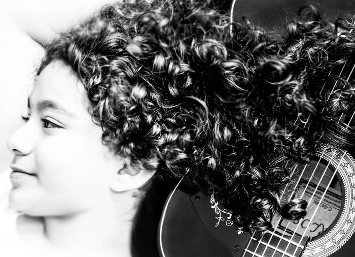 girly guitar Bestshot Cute Daughter Photo♡ Model Pose Fashionstyle Guitar My Guitar Buffalo Soldier Black And White Photography B&W Portrait