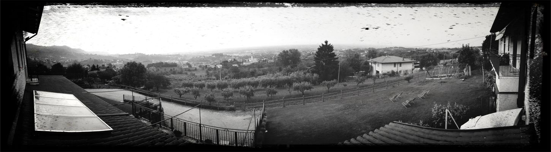 Monochrome Panorama Hills Italy