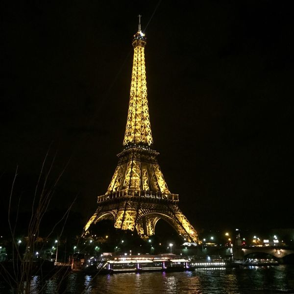 Paris Eiffel Tower Your Ticket To Europe Tourism Tower Illuminated Night Travel Destinations Travel Tourist Torre Eiffel France Travel Photography Paris, France  Francia Rio River Noche Nocturna Paint The Town Yellow