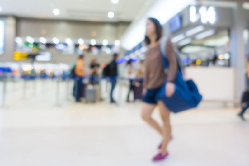Airline Blurred Check-in Transportation Travel Airport Blur